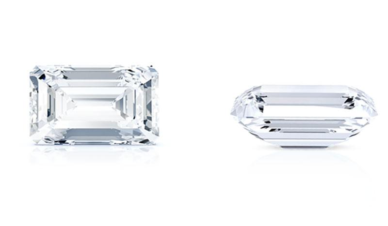 fine jewels diamond shapes emerald cut