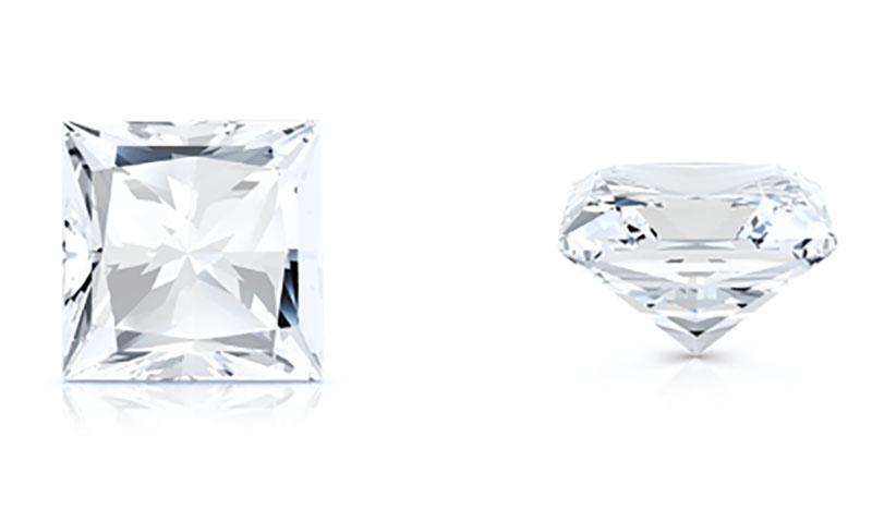 fine jewels diamond shapes princess cut