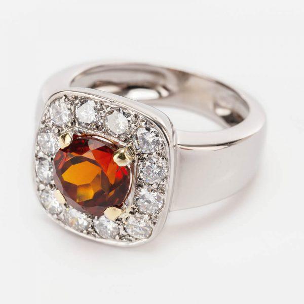 Citrine Diamond Ring