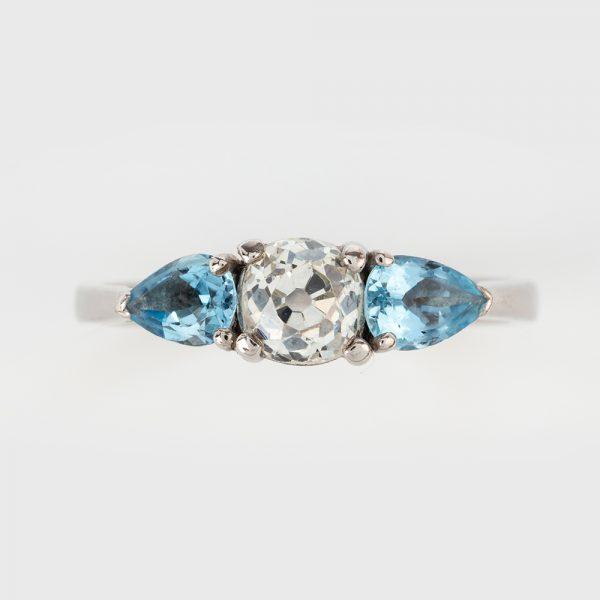Fine Jewels of Harrogate Dia Aqua 3st Ring