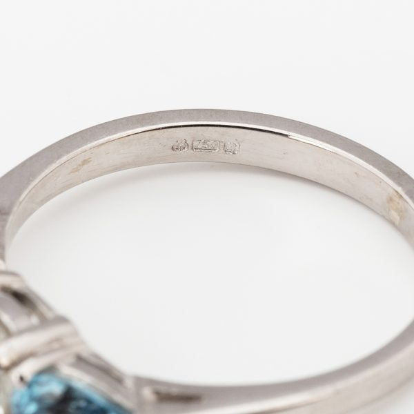 Diamond Aqua 3st Ring