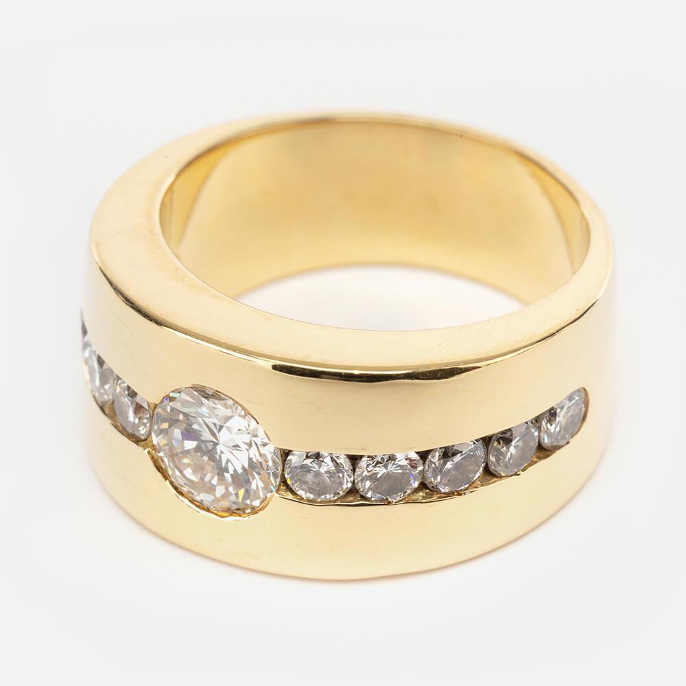Fine Jewels of Harrogate Modern 0.75 Carat Diamond Dress Ring Circa 1980's