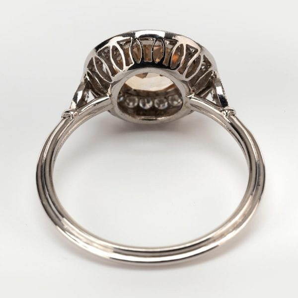 Fine Jewels of Harrogate Orange Sapphire Diamond Cluster Ring