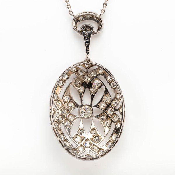 Diamond Oval Pendant