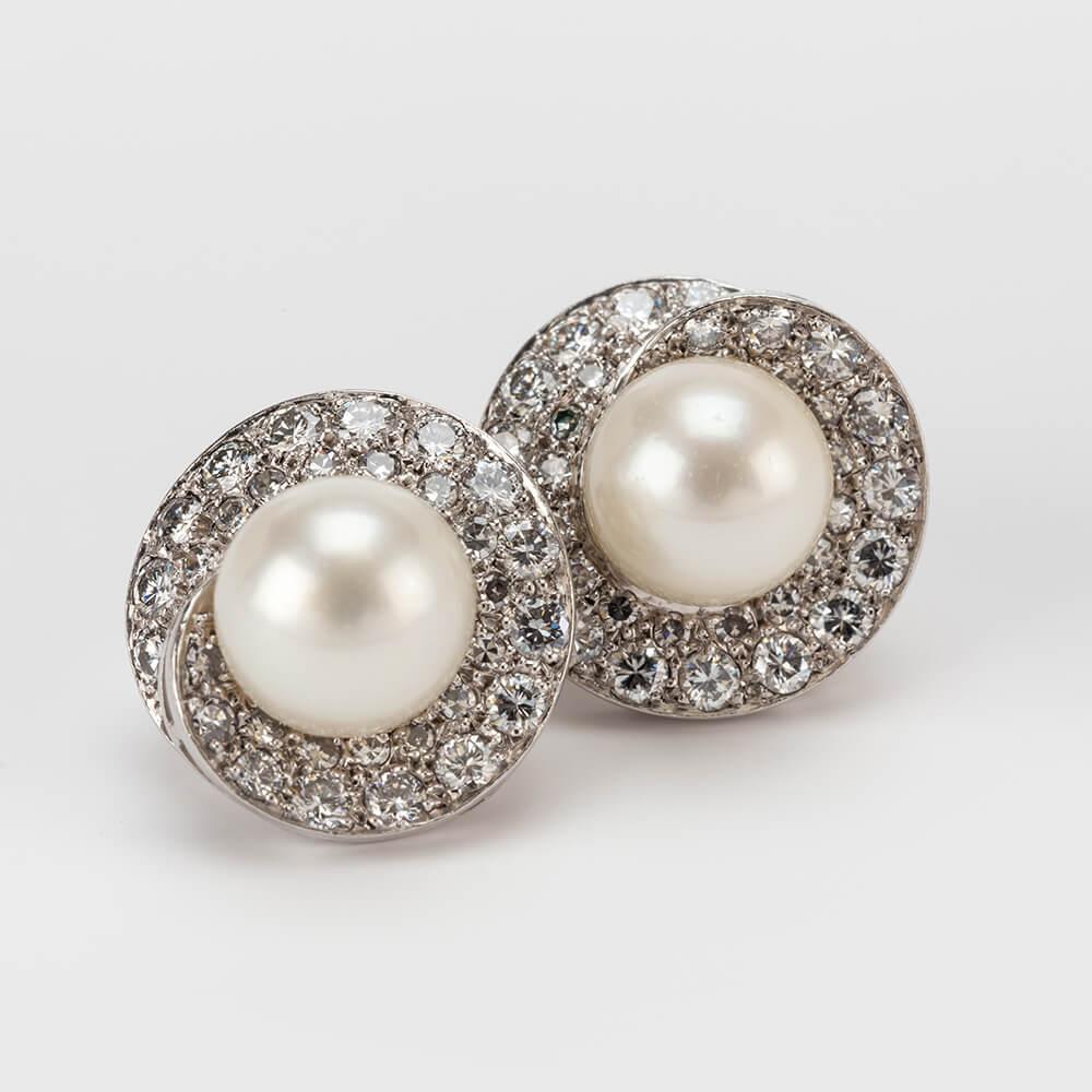 Pearl Diamond Earrings