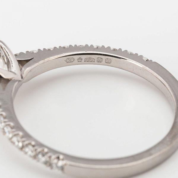 Contemporary 0.85 Carat Old European Cut Diamond Solitaire Engagement Ring