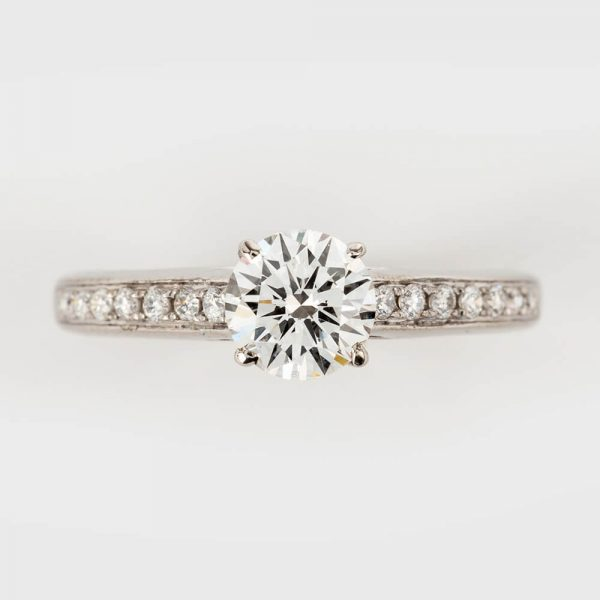 Contemporary Carat Diamond Solitaire Engagement Ring