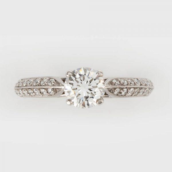0.72n Carat Diamond Solitaire Engagement Ring