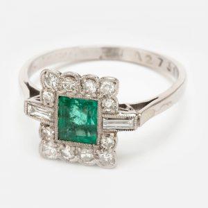 Fine Jewels Of Harrogate Emerald Diamond Ring