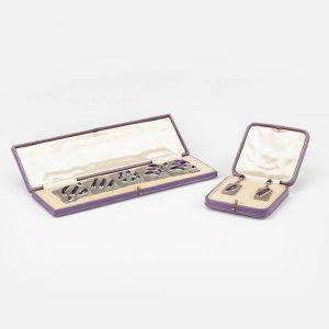 Fine Jewels Of Harrogate Platinum Amethyst Earring Bracelet set