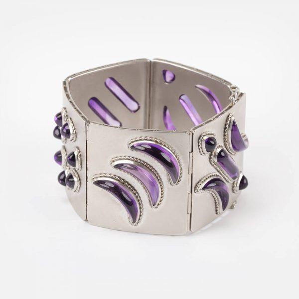 Fine Jewels Of Harrogate Platinum Amethyst Bracelet