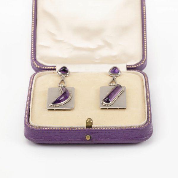 Fine Jewels Of Harrogate Platinum Amethyst Earring