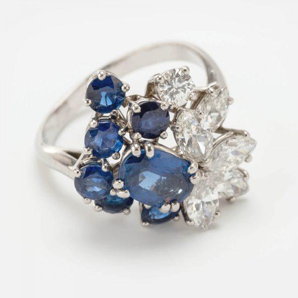 Fine Jewels of Harrogate Sapphire Diamond Ring by Chaumet