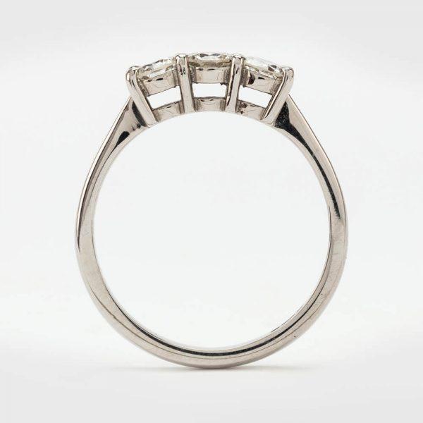 Fine Jewels of Harrogate Contemporary Diamond 0.65 Carat Trilogy Three Stone Ring