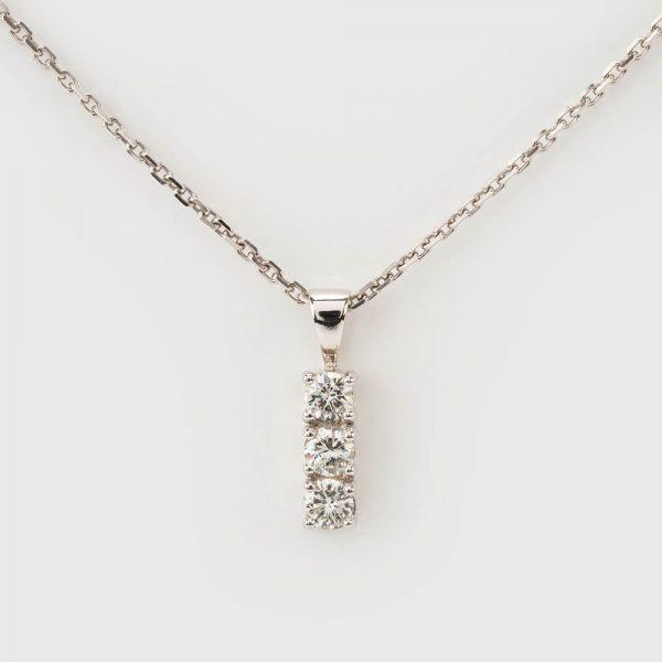 Fine Jewels of Harrogate Diamond 3st Pendant Chain