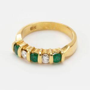 Fine Jewels of Harrogate 5st Emerald Diamond Ring