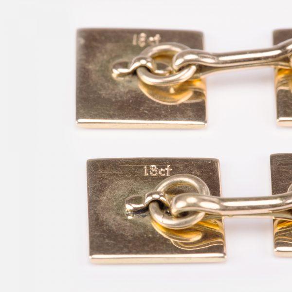 Fine Jewels of Harrogate Gold Enamel Cufflinks