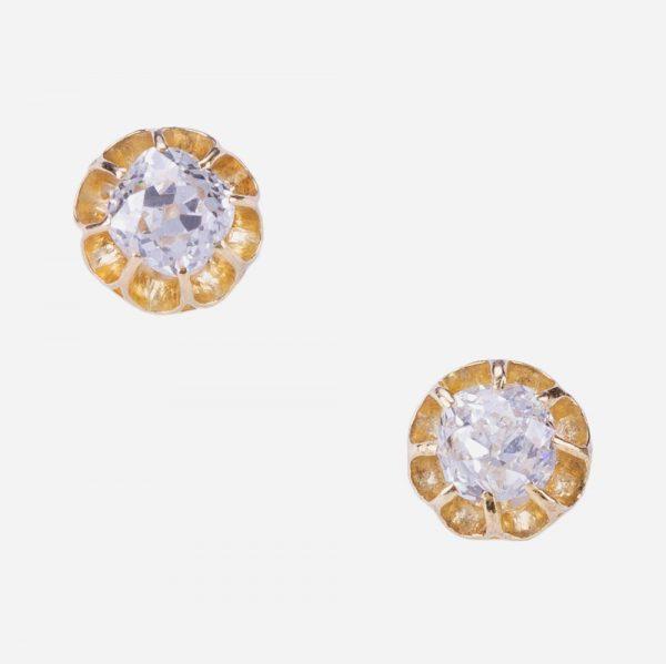 Fine Jewels of Harrogate Diamond Yellow Gold Stud Earrings