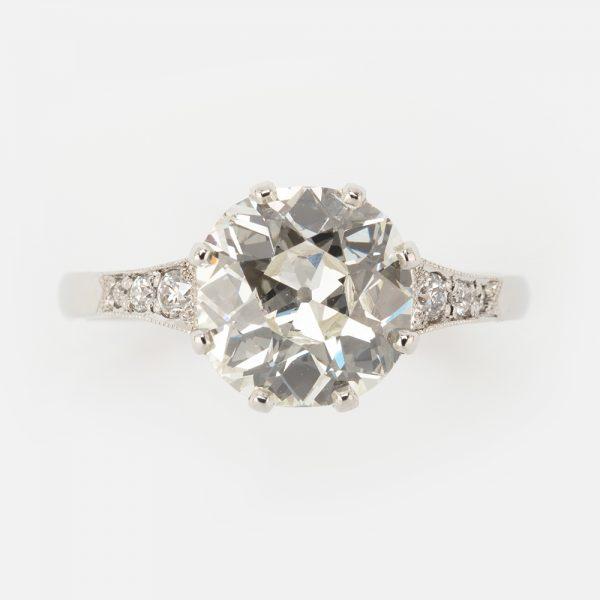 Fine Jewels of Harrogate Diamond 2.68ct Cluster SS Ring