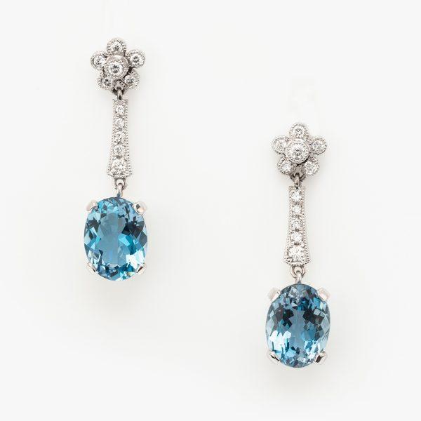 Fine Jewels of Harrogate Aqua Drop Earrings