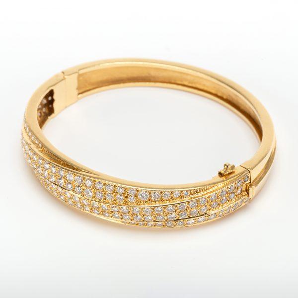 Fine Jewels of Harrogate 43963-3-Gold-Pave-Dia-Bangle-1