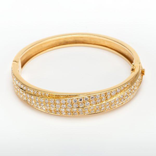 Fine Jewels of Harrogate 43963-3-Gold-Pave-Dia-Bangle-2
