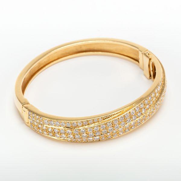 Fine Jewels of Harrogate 43963-3-Gold-Pave-Dia-Bangle-3