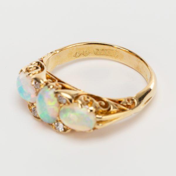 Fine Jewels of Harrogate 44174-1-Opal-Dia-Half-Hoop-Ring-6