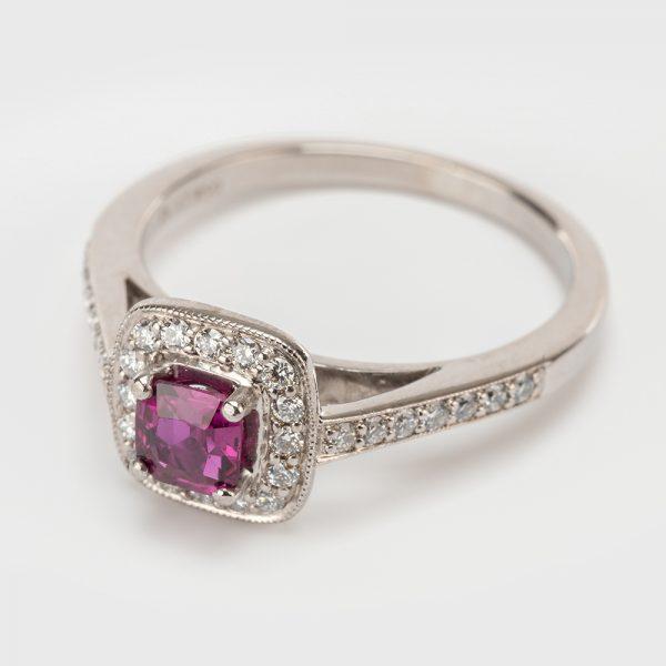 Fine Jewels of Harrogate 44174-3-Red-Tourmaline-Dia-1