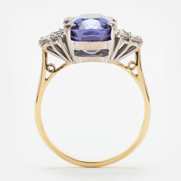 Fine Jewels of Harrogate 44174-4-Tanzanite-Dia-Ring-3