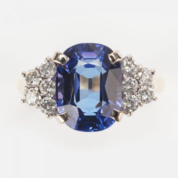 Fine Jewels of Harrogate 44174-4-Tanzanite-Dia-Ring-5