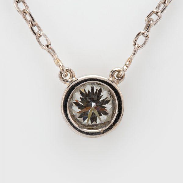 Fine Jewels of Harrogate 44297-B12-Diamond-Pendant-and-Chain-5