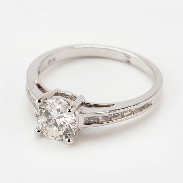 Fine Jewels of Harrogate 44573-7-1.00ct-RD-Dia-SS-EVVsc-Ring-1