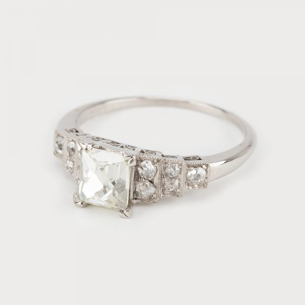 Fine Jewels of Harrogate 45026-11-Diamond-0.9ct-French-Cut-SS-Ring-1