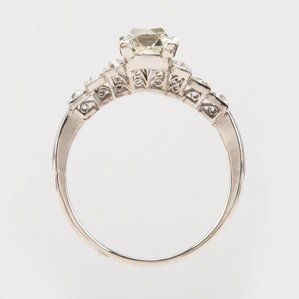 Fine Jewels of Harrogate 45026-11-Diamond-0.9ct-French-Cut-SS-Ring-3
