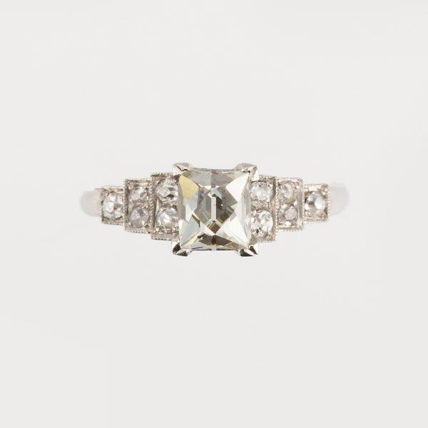 Fine Jewels of Harrogate 45026-11-Diamond-0.9ct-French-Cut-SS-Ring-5