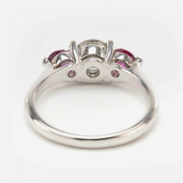 Fine Jewels of Harrogate 44569-10-Ruby-Dia-3st-Ring-2