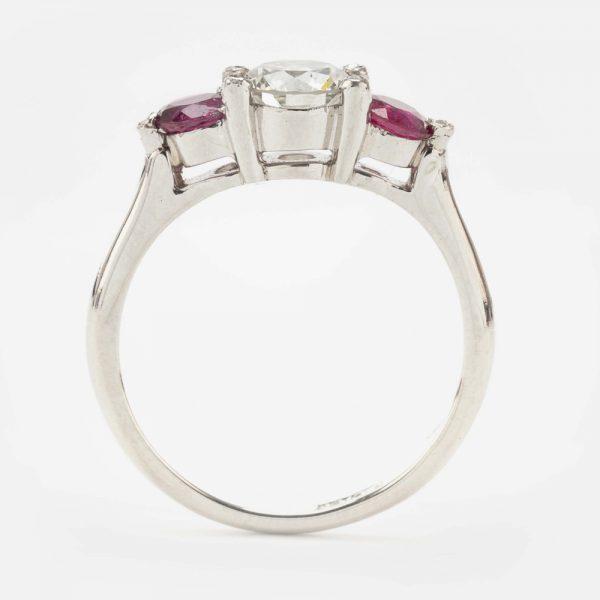 Fine Jewels of Harrogate 44569-10-Ruby-Dia-3st-Ring-3