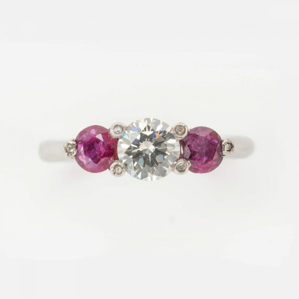Fine Jewels of Harrogate 44569-10-Ruby-Dia-3st-Ring-5