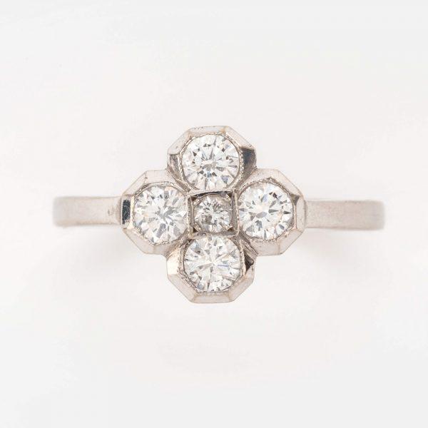 Fine Jewels of Harrogate 44569-2-Dia-5st-Cluster-Ring-5