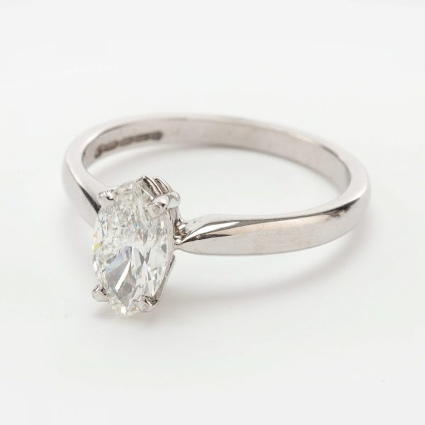 Fine Jewels of Harrogate 44569-6-0.82ct-Marquise-Dia-SS-Ring-1