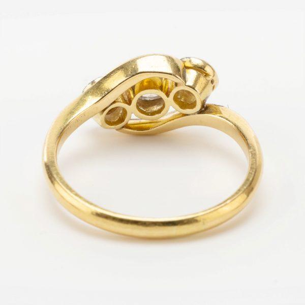Fine Jewels of Harrogate 44569-7-Dia-3st_Twist-Ring-2