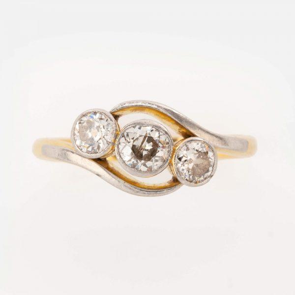 Fine Jewels of Harrogate 44569-7-Dia-3st_Twist-Ring-5