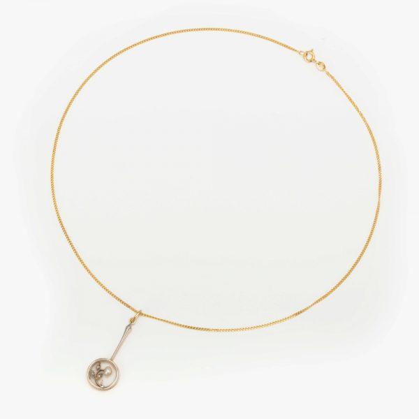 Fine Jewels of Harrogate 44834-8-Pearl-Dia-Pendant-Chain-4