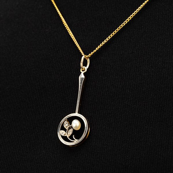 Fine Jewels of Harrogate 44834-8-Pearl-Dia-Pendant-Chain-5